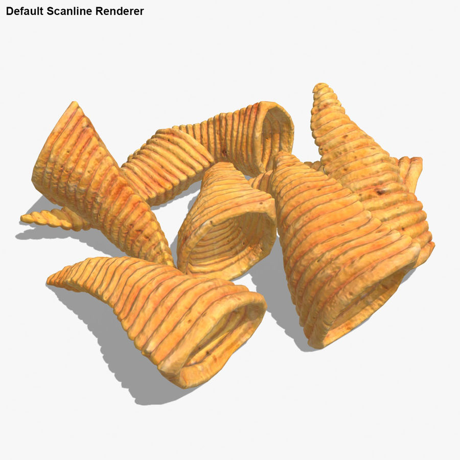 Corn Chip royalty-free 3d model - Preview no. 20