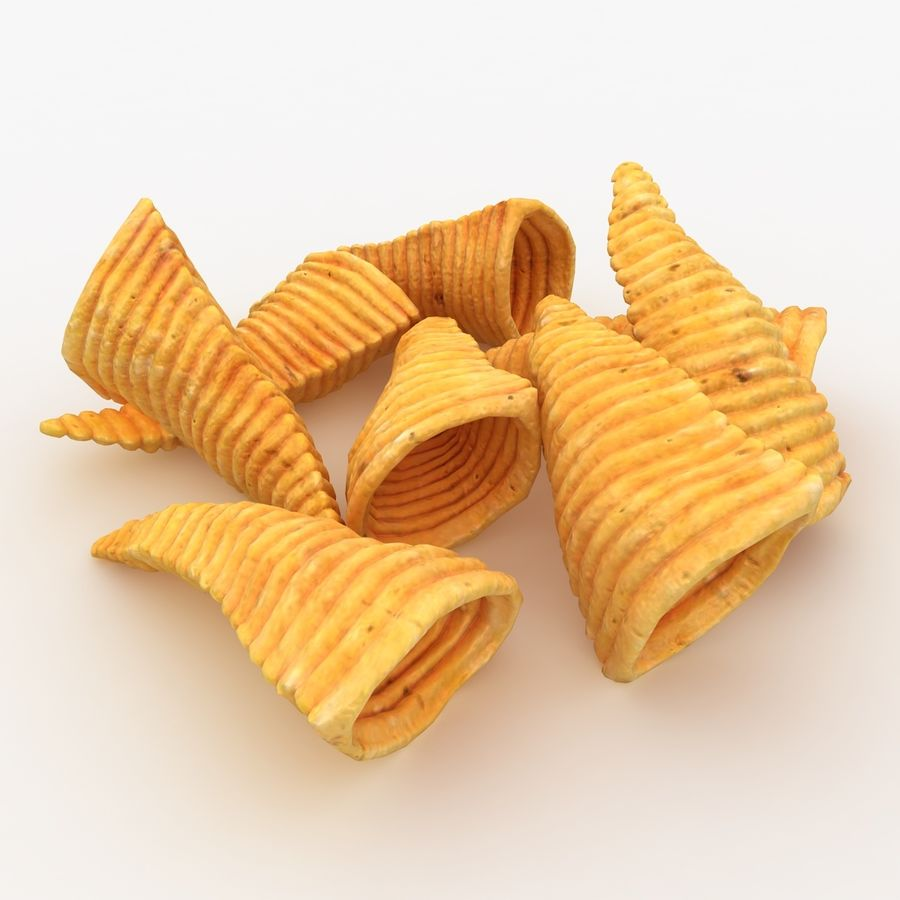 Corn Chip royalty-free 3d model - Preview no. 2