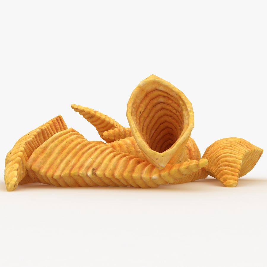 Corn Chip royalty-free 3d model - Preview no. 9