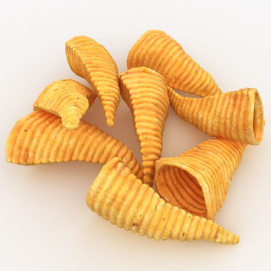 Corn Chip royalty-free 3d model - Preview no. 5