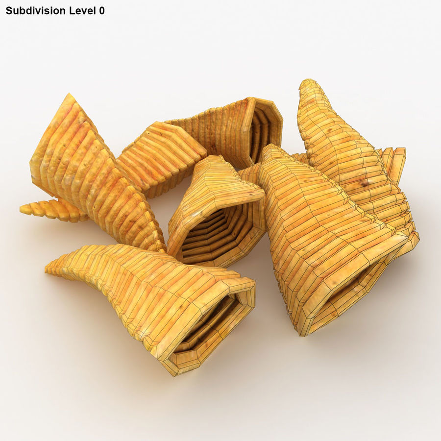 Corn Chip royalty-free 3d model - Preview no. 15