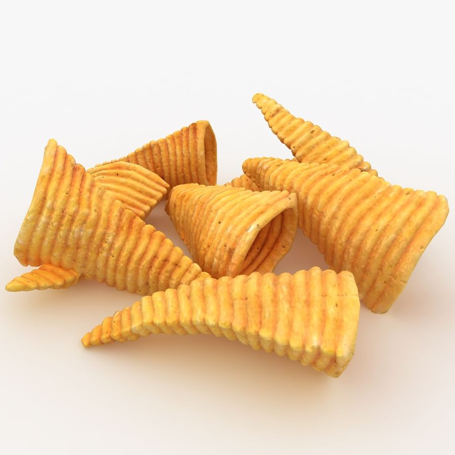 Corn Chip royalty-free 3d model - Preview no. 8