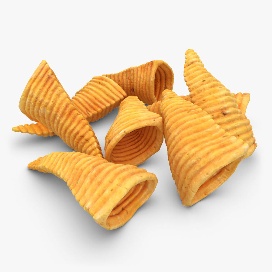 Corn Chip royalty-free 3d model - Preview no. 1