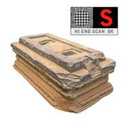 Pedra Vermelha Antiga 8K 3d model