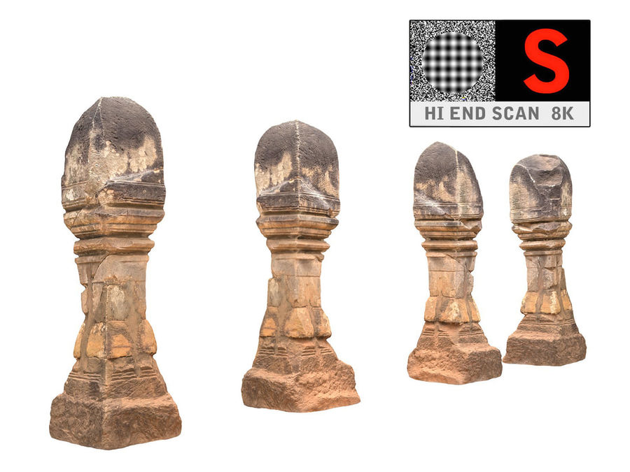 Ancient Column Cambodia royalty-free 3d model - Preview no. 1