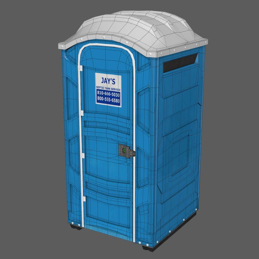 Przenośna toaleta royalty-free 3d model - Preview no. 7