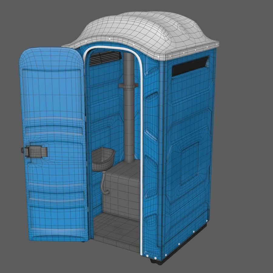 Przenośna toaleta royalty-free 3d model - Preview no. 10