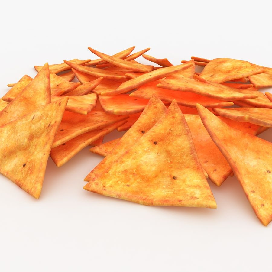 Tortilla-Chip royalty-free 3d model - Preview no. 3