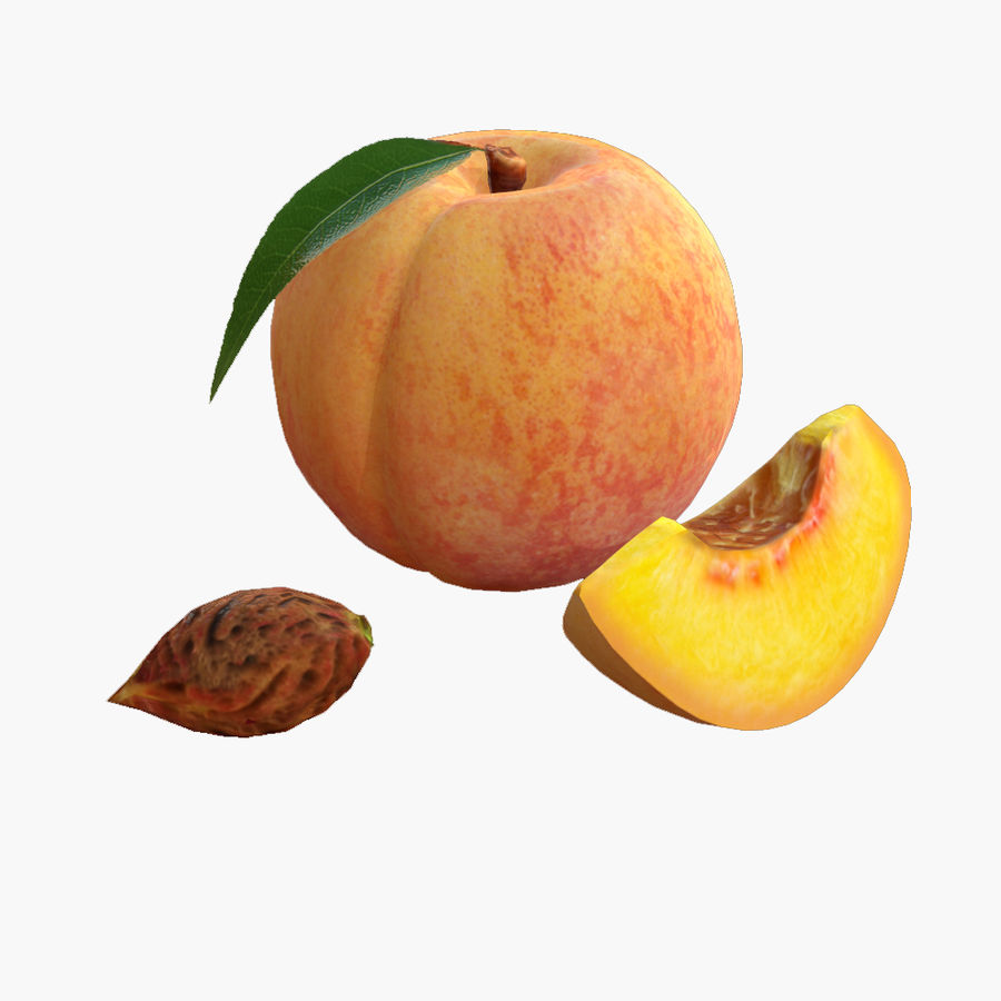 Realistic Peach royalty-free 3d model - Preview no. 1