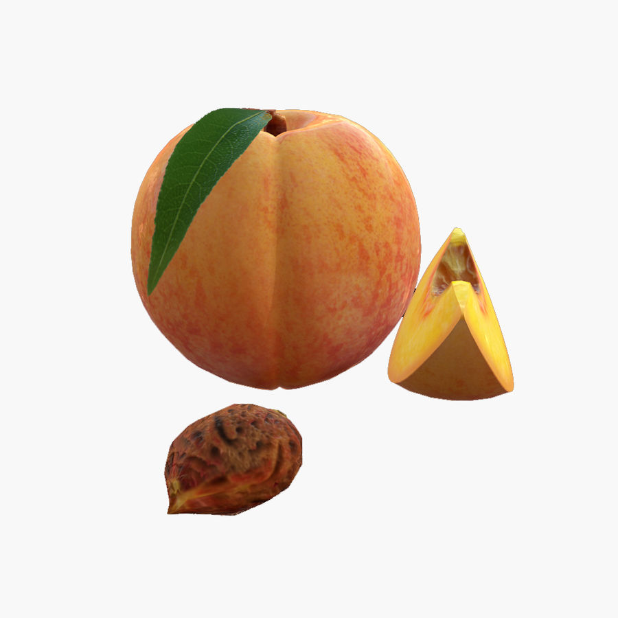 Realistic Peach royalty-free 3d model - Preview no. 2