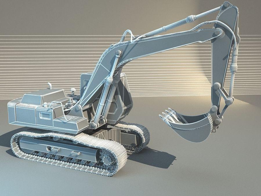 挖掘机 royalty-free 3d model - Preview no. 2