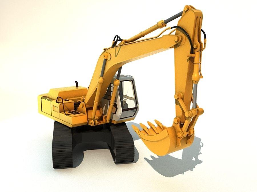 挖掘机 royalty-free 3d model - Preview no. 4