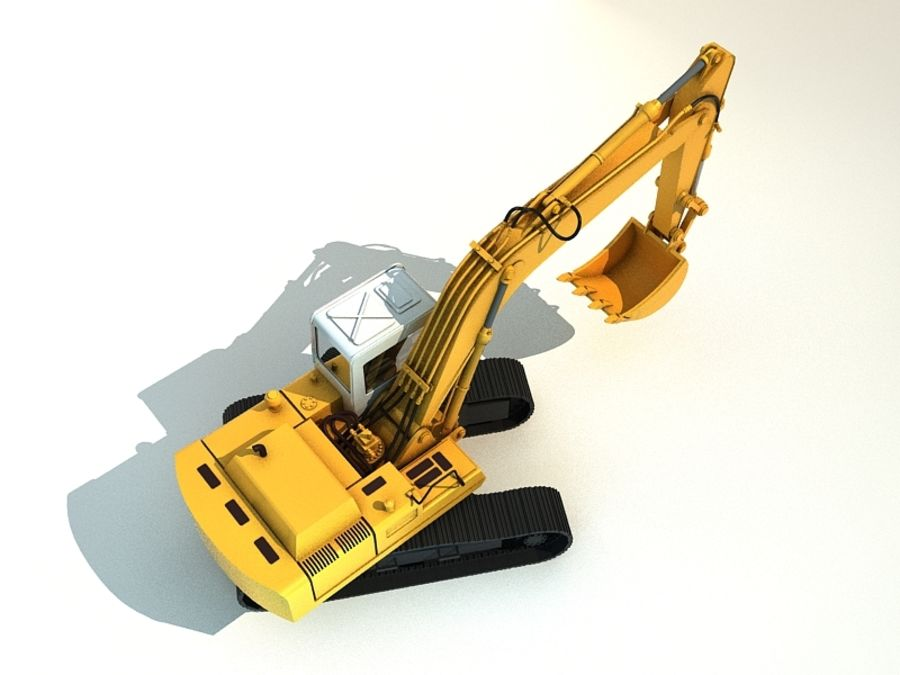 excavator royalty-free 3d model - Preview no. 6