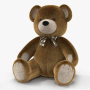Teddy Bear 3D model with Fur 3d model