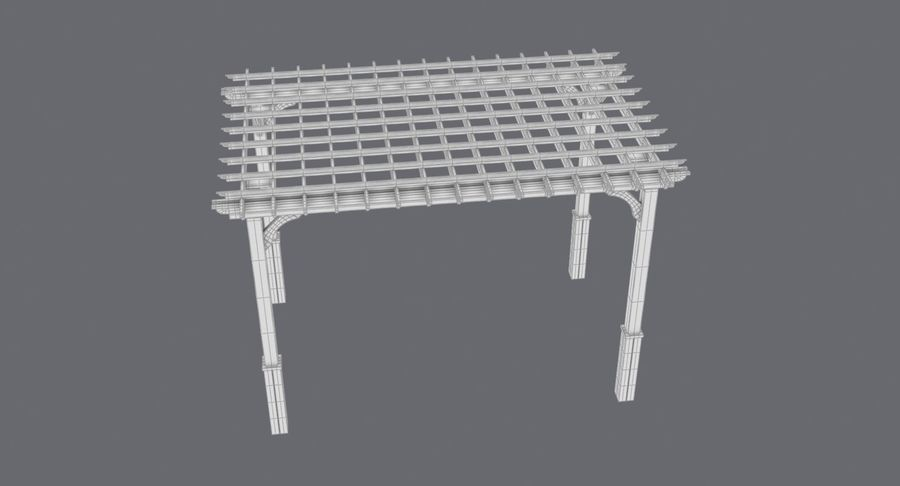pergola royalty-free 3d model - Preview no. 14