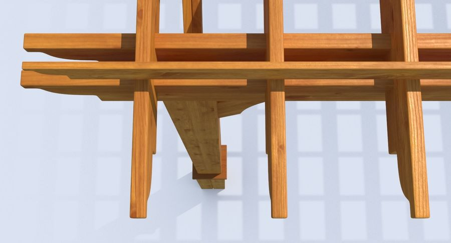 pergola royalty-free 3d model - Preview no. 8