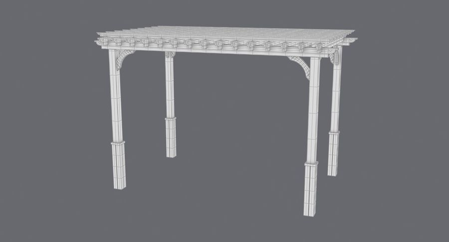 pergola royalty-free 3d model - Preview no. 13