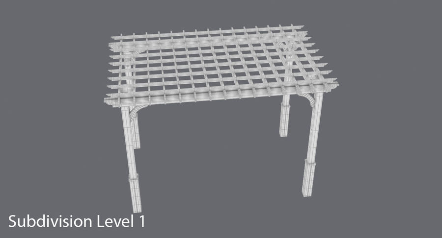 pergola royalty-free 3d model - Preview no. 12