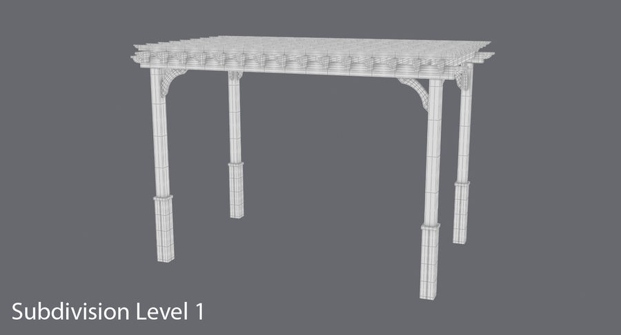 pergola royalty-free 3d model - Preview no. 10