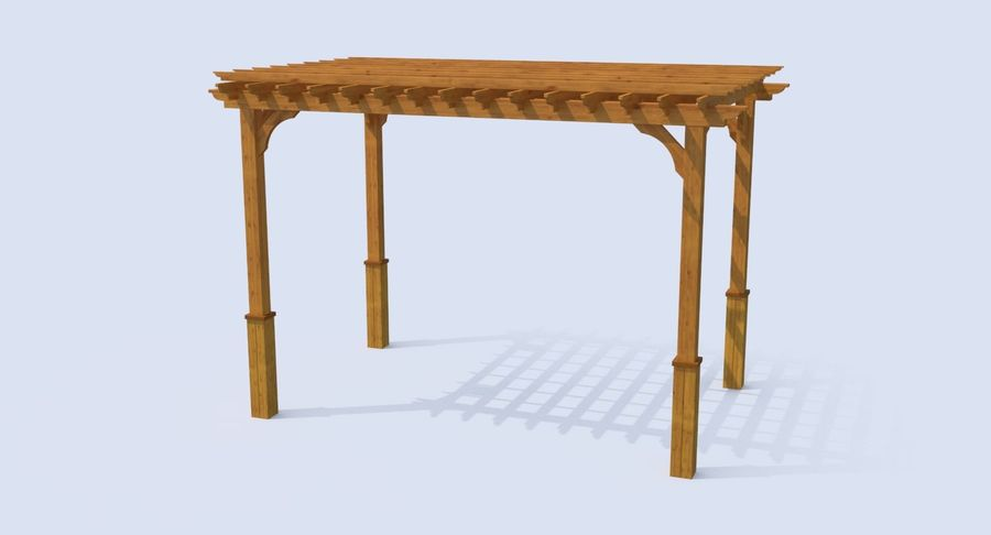 pergola royalty-free 3d model - Preview no. 3