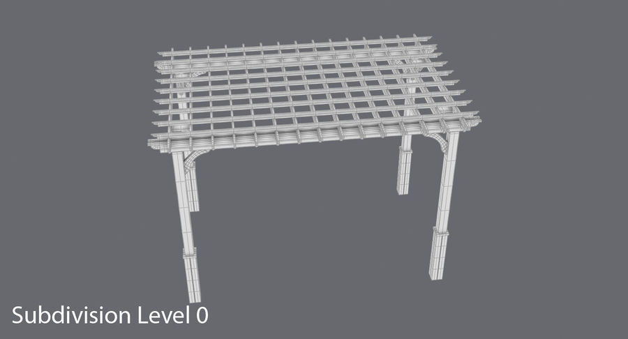 pergola royalty-free 3d model - Preview no. 11