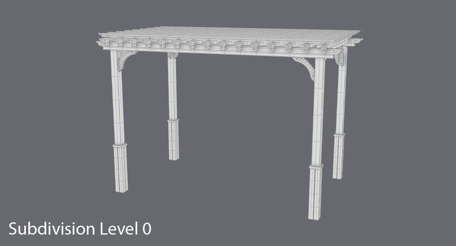 pergola royalty-free 3d model - Preview no. 9