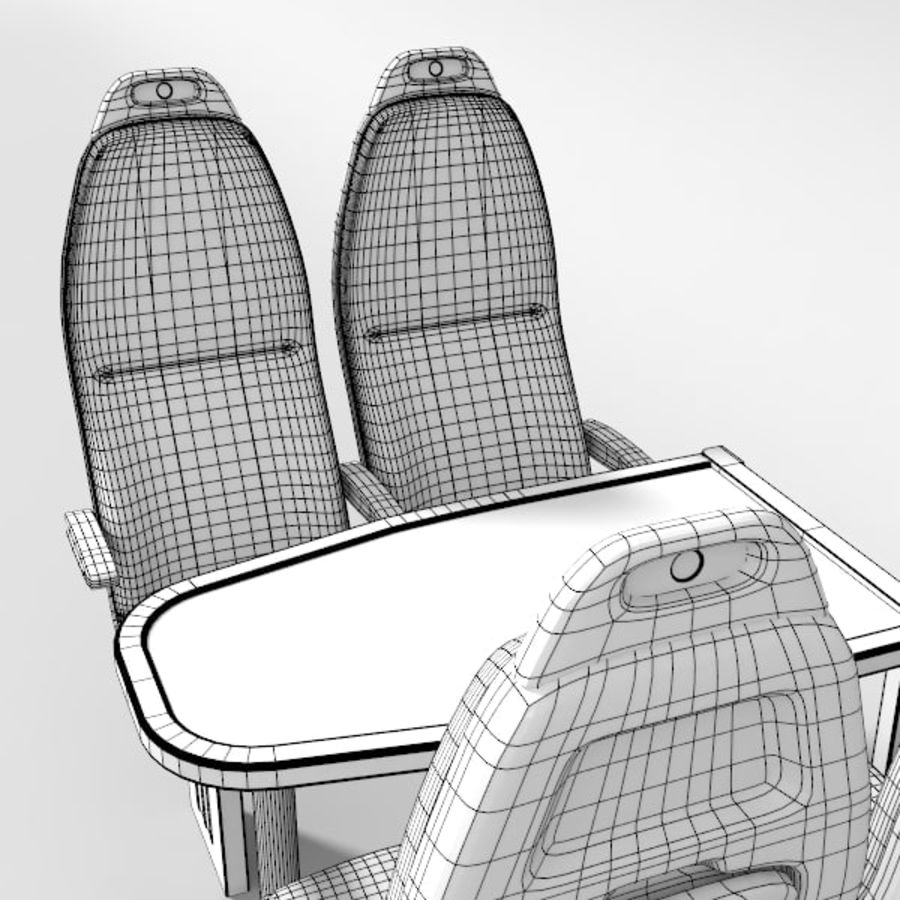 Train Seat royalty-free 3d model - Preview no. 8