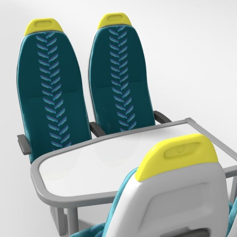 Train Seat royalty-free 3d model - Preview no. 4