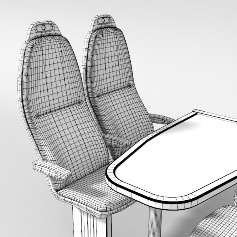 Train Seat royalty-free 3d model - Preview no. 7
