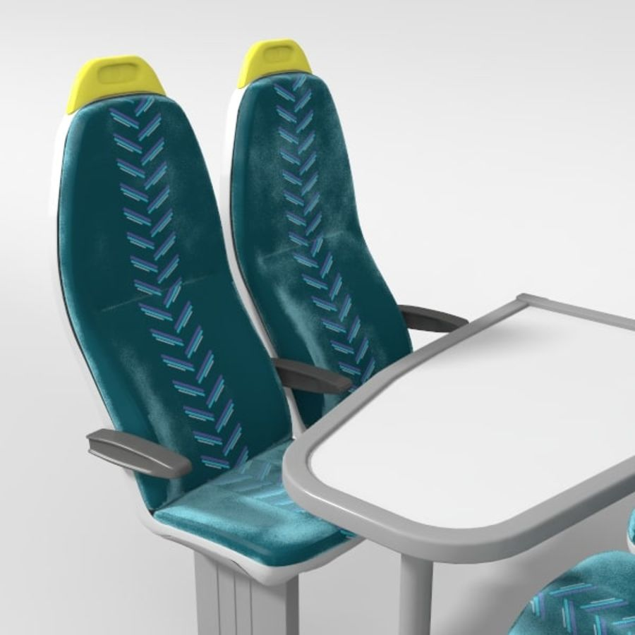 Train Seat royalty-free 3d model - Preview no. 3