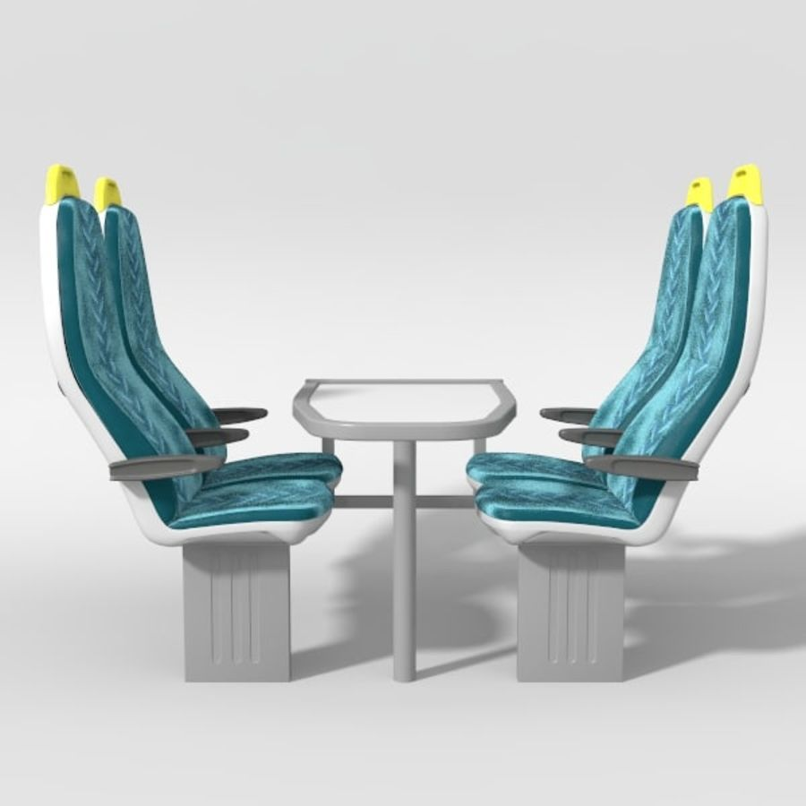 Train Seat royalty-free 3d model - Preview no. 2