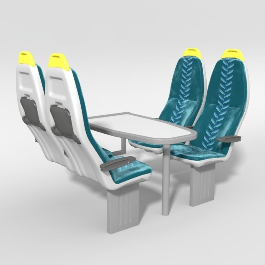 Train Seat royalty-free 3d model - Preview no. 1