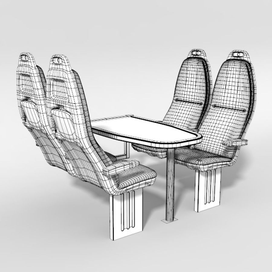 Train Seat royalty-free 3d model - Preview no. 6