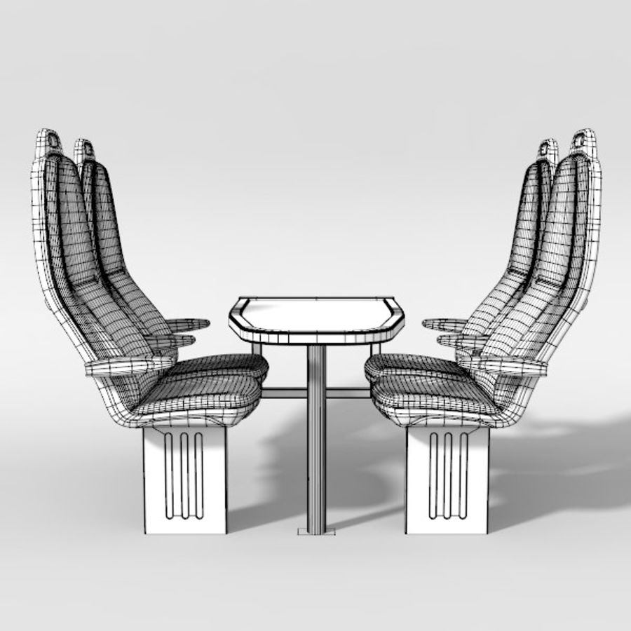Train Seat royalty-free 3d model - Preview no. 5