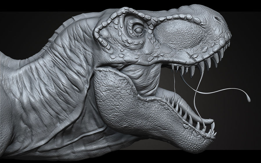High Poly T-Rex Ztool royalty-free 3d model - Preview no. 6