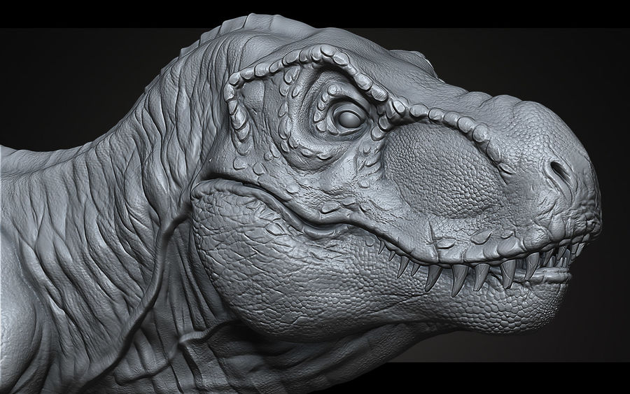 High Poly T-Rex Ztool royalty-free 3d model - Preview no. 5