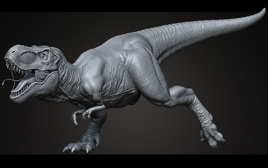 High Poly T-Rex Ztool royalty-free 3d model - Preview no. 1