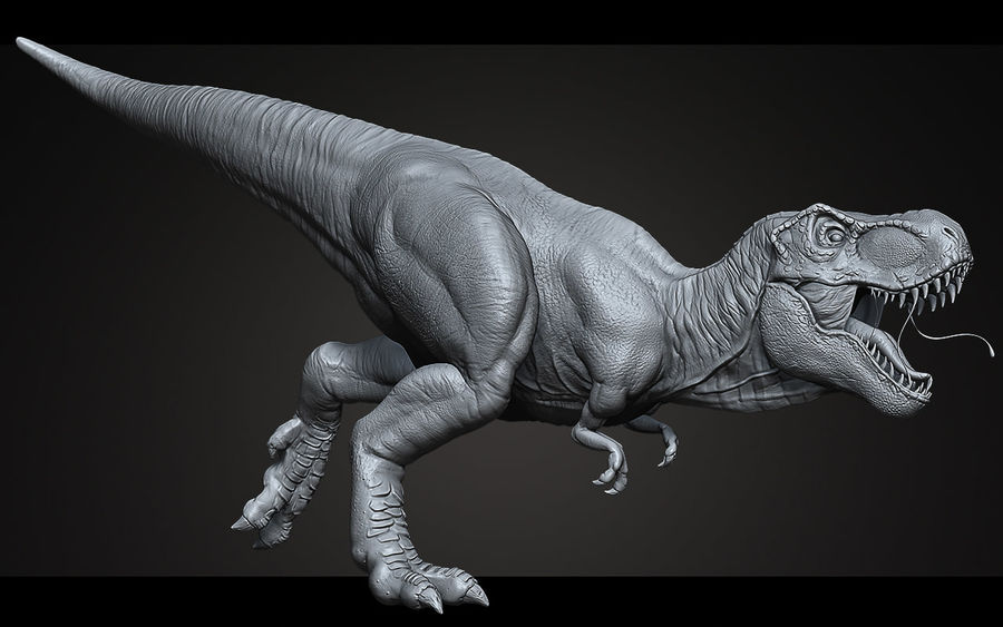 High Poly T-Rex Ztool royalty-free 3d model - Preview no. 4