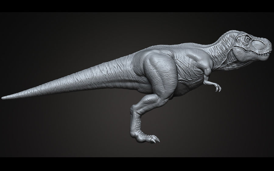 High Poly T-Rex Ztool royalty-free 3d model - Preview no. 3