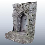 Medieval Door Scan 01 3d model
