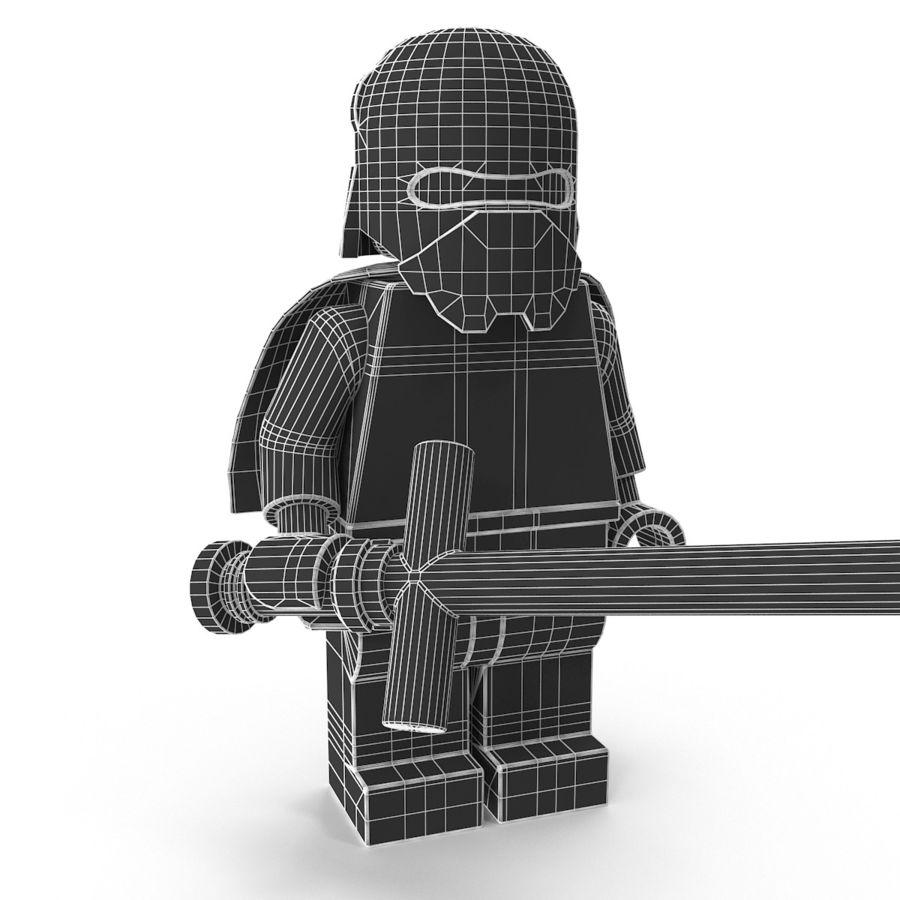 Lego Kylo Ren royalty-free 3d model - Preview no. 23