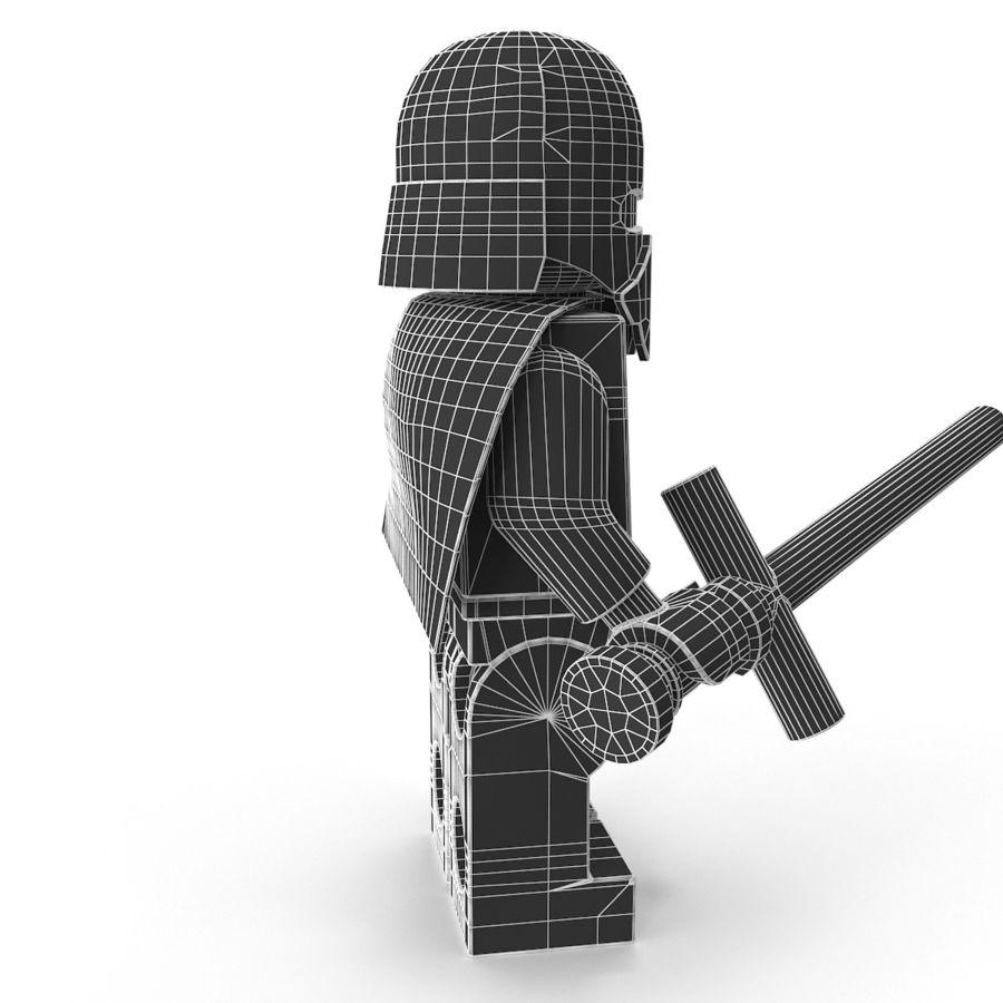 Lego Kylo Ren royalty-free 3d model - Preview no. 21