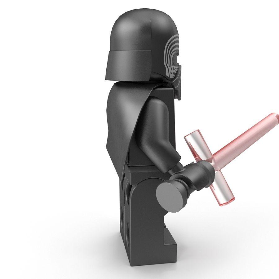 Lego Kylo Ren royalty-free 3d model - Preview no. 10