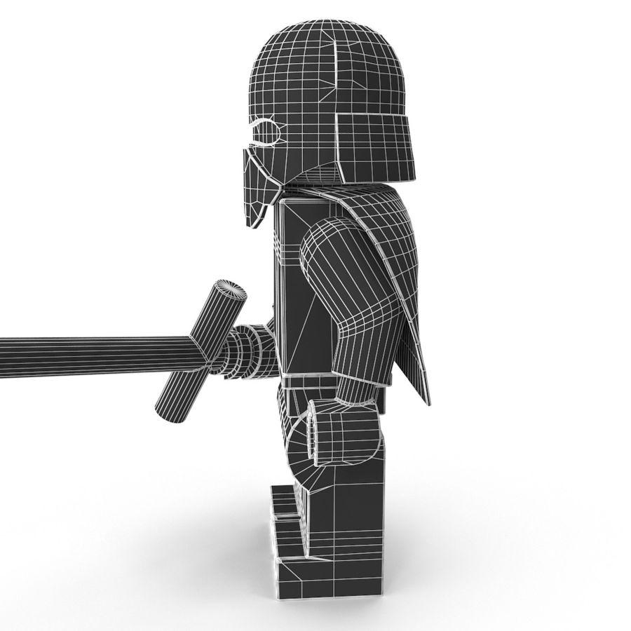 Lego Kylo Ren royalty-free 3d model - Preview no. 17
