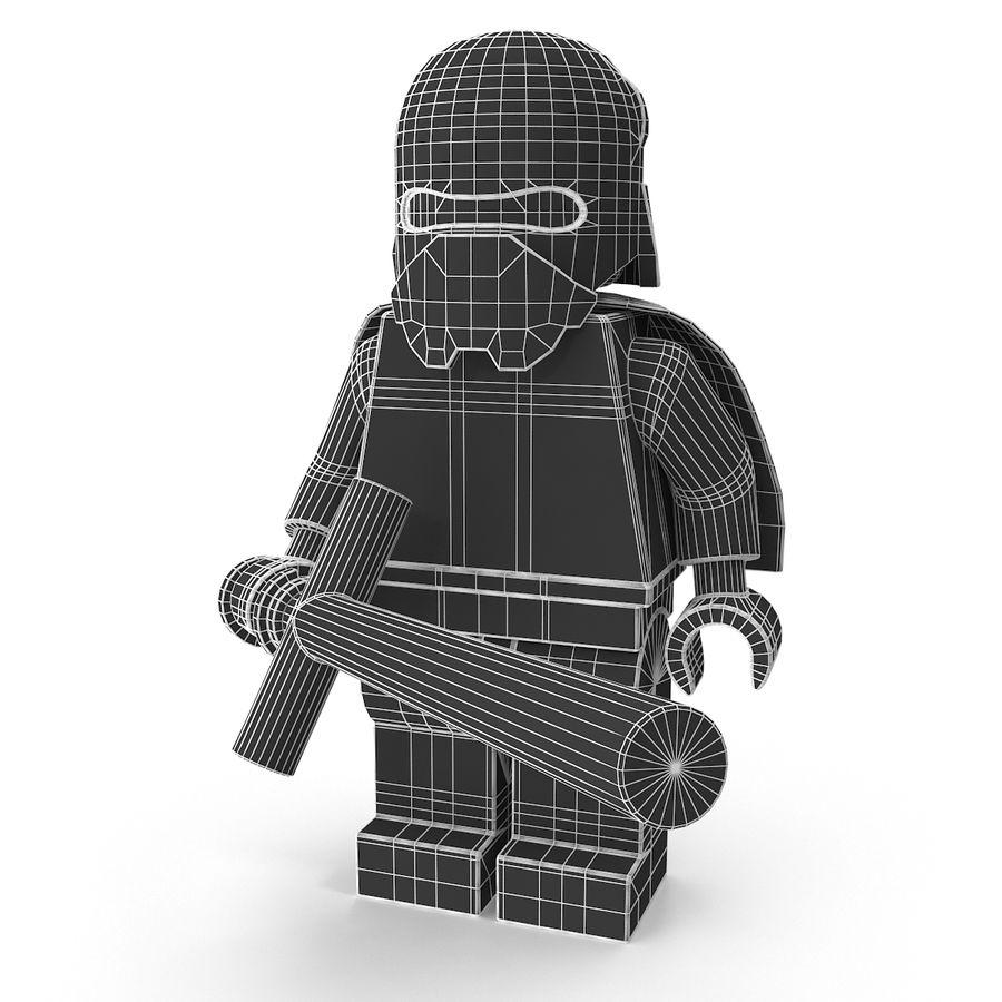 Lego Kylo Ren royalty-free 3d model - Preview no. 14
