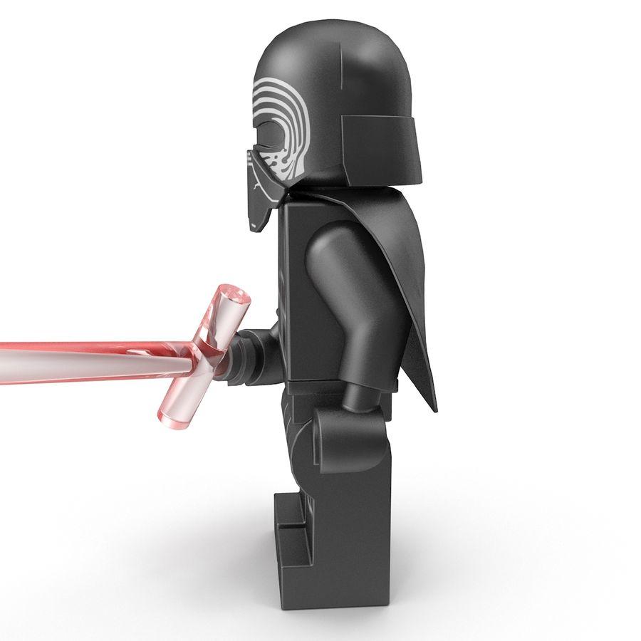 Lego Kylo Ren royalty-free 3d model - Preview no. 6