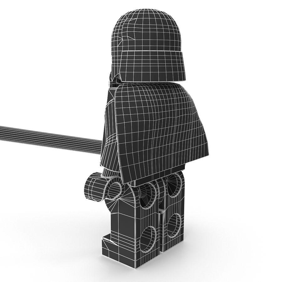 Lego Kylo Ren royalty-free 3d model - Preview no. 18