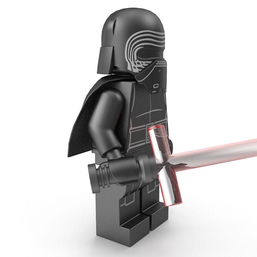 Lego Kylo Ren royalty-free 3d model - Preview no. 11