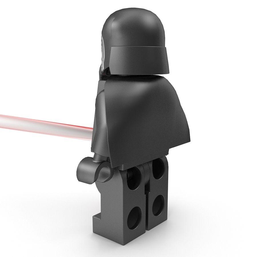 Lego Kylo Ren royalty-free 3d model - Preview no. 7