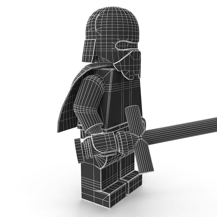 Lego Kylo Ren royalty-free 3d model - Preview no. 22